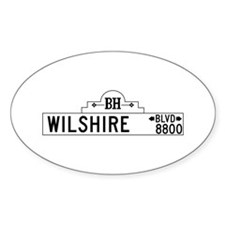 Wilshire Blvd., Los Angeles - USA Oval Decal