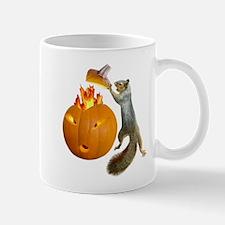 Squirrel Burning Pumpkin Mug