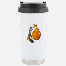Squirrel Burning Pumpkin Travel Mug