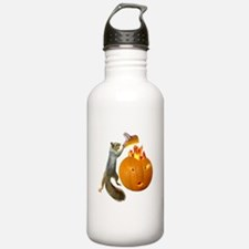 Squirrel Burning Pumpkin Water Bottle