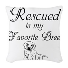 Rescued Dog Woven Throw Pillow