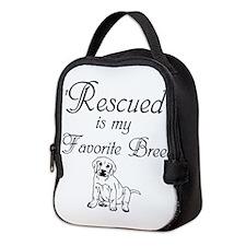 Rescued Dog Neoprene Lunch Bag