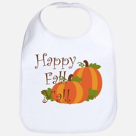 Happy Fall Y'all Bib