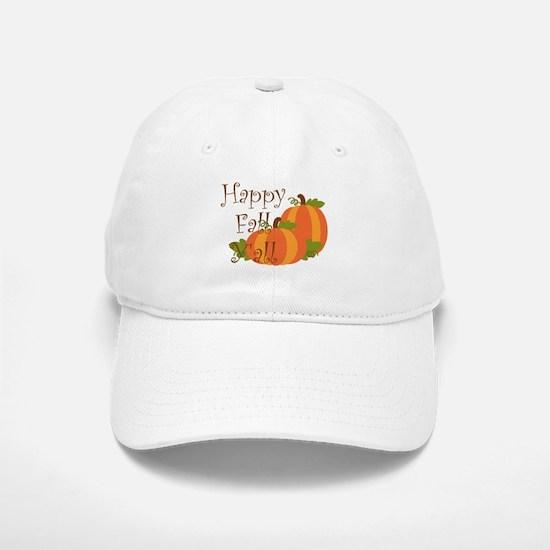 Happy Fall Y'all Baseball Baseball Baseball Cap