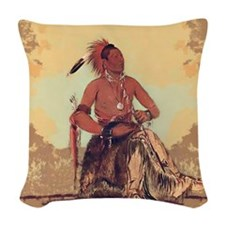 Double Walker, Omaha Woven Throw Pillow