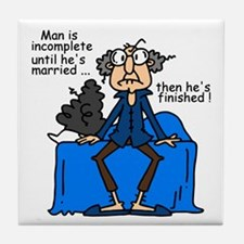 Men and Marriage Tile Coaster