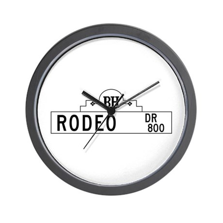 Rodeo Dr., Los Angeles - USA Wall Clock
