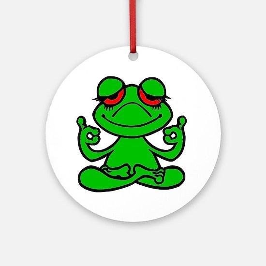 Frog Lotus Ornament (Round)
