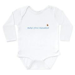 Baby's First Hanukkah Long Sleeve Infant Bodysuit