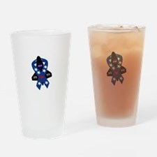Challenger Commemorative Patch Drinking Glass