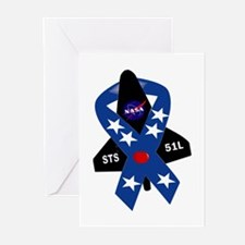 Challenger Commemorative Patch Greeting Cards (Pk