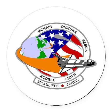STS-52L Challenger's Last Round Car Magnet