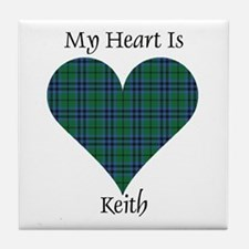 Heart - Keith Tile Coaster