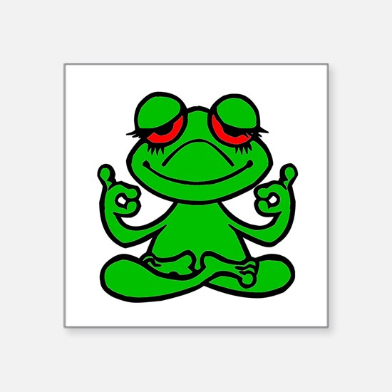 Frog Lotus Sticker