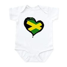 Jamaica One Heart Onesie