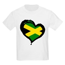 Jamaica One Heart Kids T-Shirt