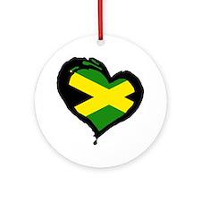 Jamaica One Heart Ornament (Round)