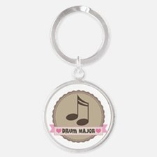Drum Major gift Round Keychain