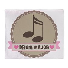 Drum Major gift Throw Blanket