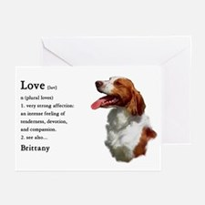 American Brittany Spaniel Greeting Cards (Pk of 10