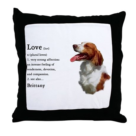 American Brittany Spaniel Throw Pillow