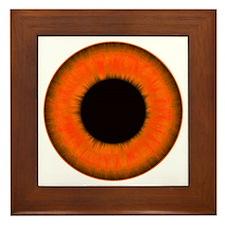 Halloween Orange Eye Framed Tile