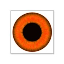 "Halloween Orange Eye Square Sticker 3"" x 3"""