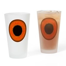 Halloween Orange Eye Drinking Glass