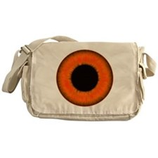 Halloween Orange Eye Messenger Bag