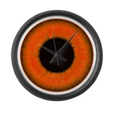 Halloween Orange Eye Large Wall Clock