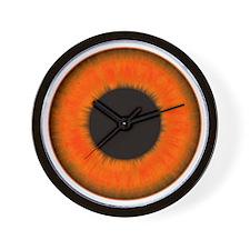 Halloween Orange Eye Wall Clock