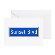 Sunset Blvd., Los Angeles - USA Greeting Cards (P
