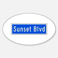 Sunset Blvd., Los Angeles - USA Oval Decal