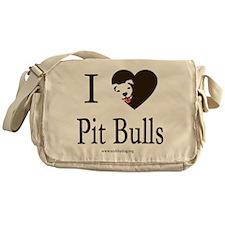 I Heart Pit Bulls Messenger Bag