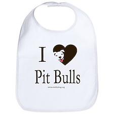 I Heart Pit Bulls Bib