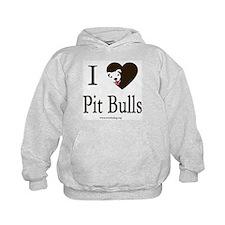 I Heart Pit Bulls Hoodie