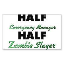 Half Emergency Manager Half Zombie Slayer Decal
