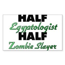 Half Egyptologist Half Zombie Slayer Decal