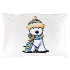 Winter Whimsy Westie Pillow Case