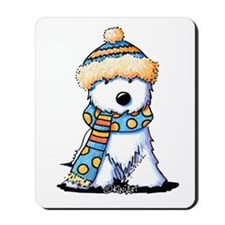 Winter Whimsy Westie Mousepad