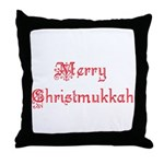 merrychristmukkah1.png Throw Pillow