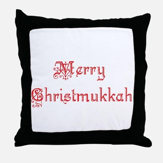 merrychristmukkah1.png Throw Pillow