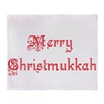 merrychristmukkah1.png Throw Blanket
