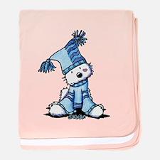 Sack Hat Westie baby blanket