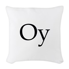 Oy Shoes Woven Throw Pillow