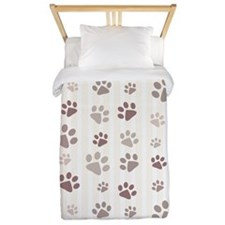 Paw Prints Twin Duvet