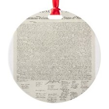 United States Declaration of Independence Ornament