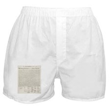 United States Declaration of Independence Boxer Sh