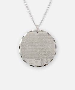 United States Declaration of Independence Necklace