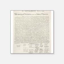 United States Declaration of Independence Sticker